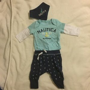 Nautica boy outfit 0-3M